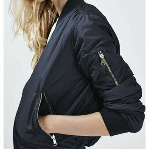 Topshop navy bomber Jacket M1  Navy puffy/padded
